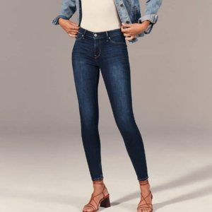ABERCROMBIE & FITCH MID RISE JEGGINGS (TALL)